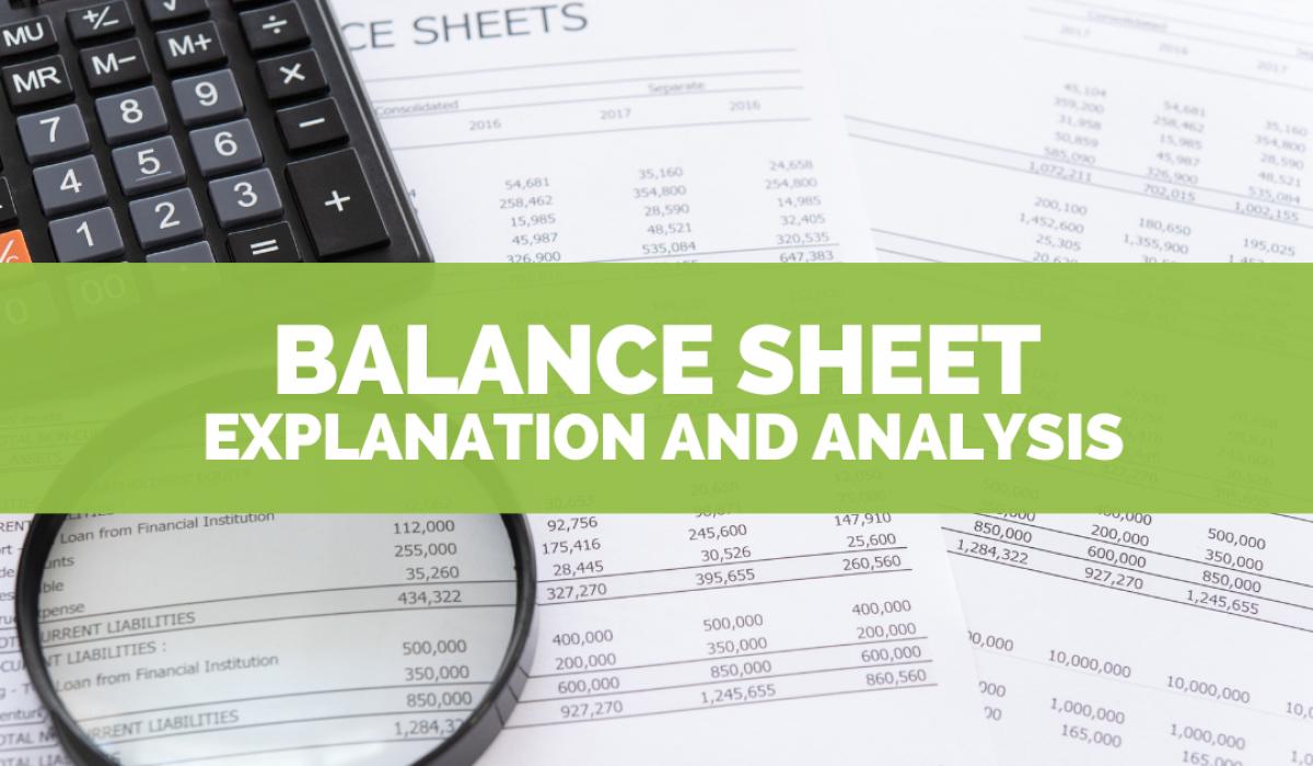 Balance Sheet explanation and analysis